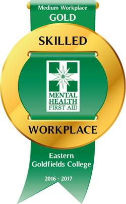 Gold skilled mental health workplace